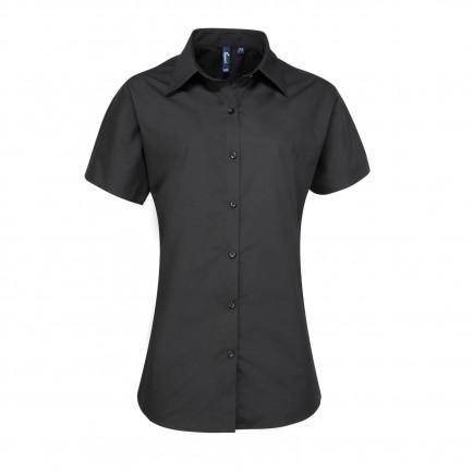 Premier Ladies Supreme Short Sleeve Pop. Shirt