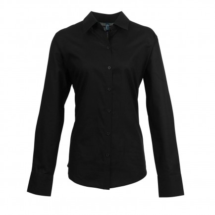 Premier Ladies Signature Long Sleeve Oxford Sht