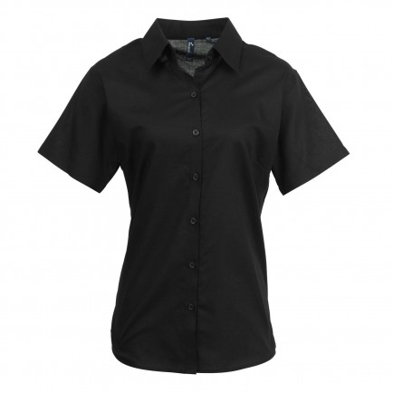 Premier Ladies Signature Short Sleeve Oxford Sht