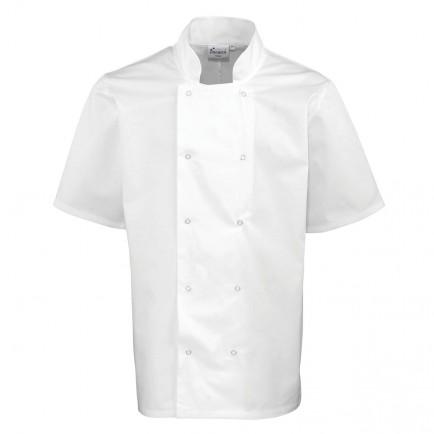 Premier Studded Short Sleeve Chefs Jkt