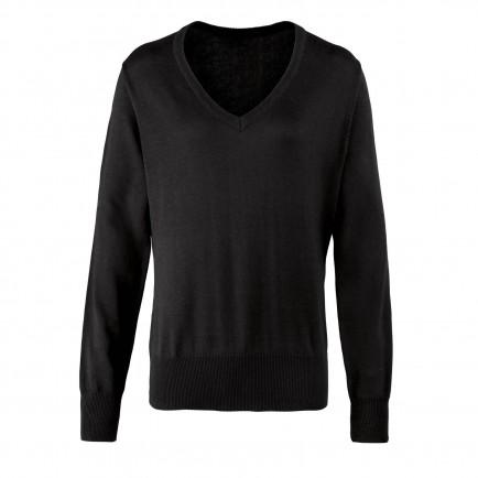 Premier Ladies Knit. V Nk Sweater