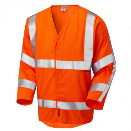 Leo Workwear Sticklepath Iso 20471 Cl 3 Lfs 3/4 Sleeve (En 14116/En 1149)