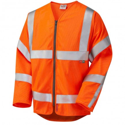 Leo Workwear Huish Iso 20471 Cl 3 Lfs/As Sleeved Zip (En 14116/En 1149)