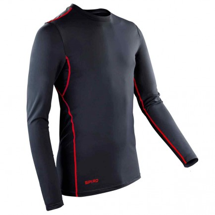 Spiro SR252M Compression Bodyfit Base Layer Long Sleeve Top