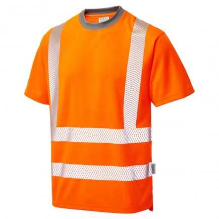 Leo Workwear Larkstone Iso 20471 Cl 2 Coolviz Plus T-Shirt