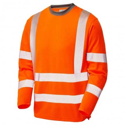 Leo Workwear Capstone Iso 20471 Cl 3 Coolviz Plus Sleeved T-Shirt