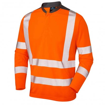 Leo Workwear Watermouth Iso 20471 Cl 3 Performance Long Sleeved T-Shirt