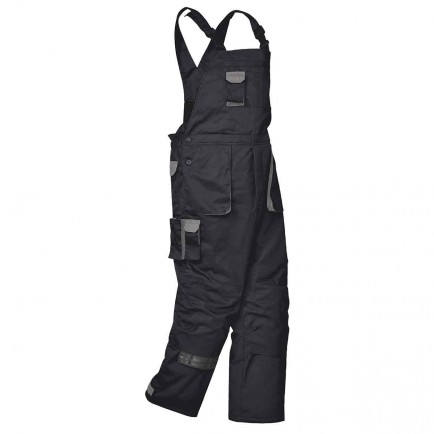 Portwest TX17 Texo Contrast Bib and Brace - Lined