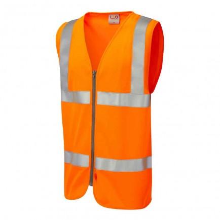 Leo Workwear Meeth Iso 20471 Cl 2 Lfs Zip Waistcoat (En 14116)