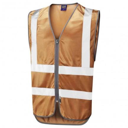 Leo Workwear Commodore Reflective Zip Waistcoat