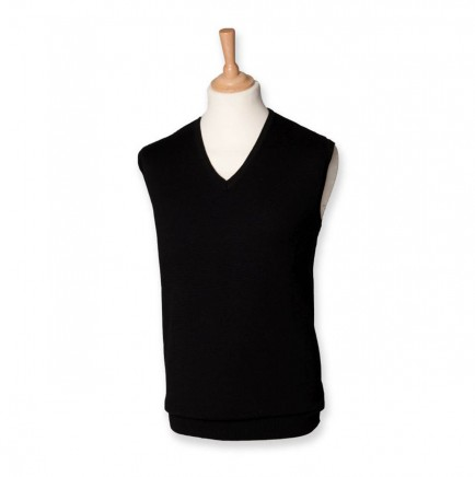 Henbury H724 Sleeveless V Neck Sweater
