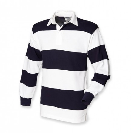 Front Row FR8 Sewn Stripe Rugby Shirt