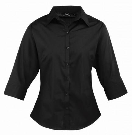 Premier PR305 Ladies 3/4 Sleeve Poplin Blouse