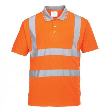 Portwest RT22 Hi-Vis Short Sleeved Polo Shirt GO/RT