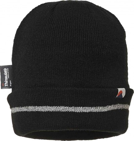 Portwest B023 Reflective Trim Knit Hat Insulatex Lined