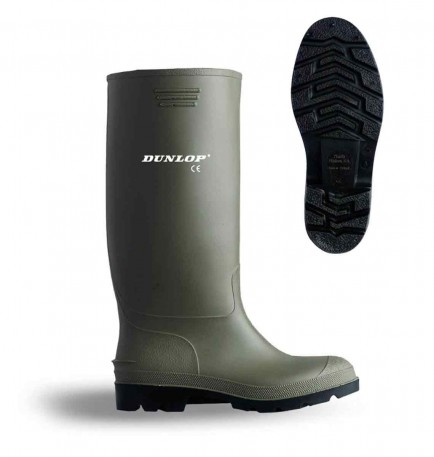 Dunlop BBG Budget Non Safety Wellingtons Green