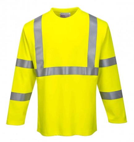 Portwest FR96 FR Hi-Vis Long Sleeve T-Shirt
