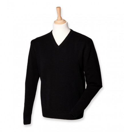 Henbury H730 Lambswool V Neck Sweater