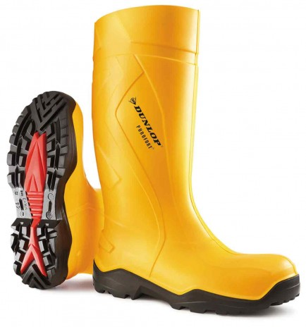 Dunlop C762241 Purofort+ Full Safety Yellow Welly