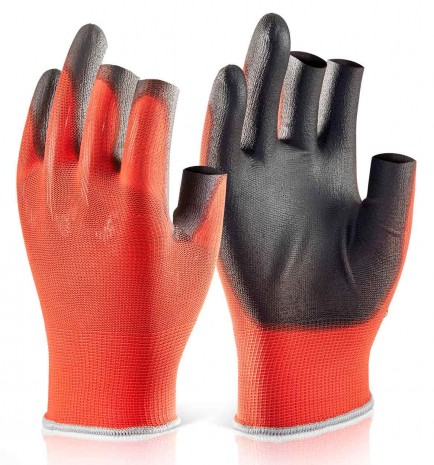Click 2000 Pu Coated 3 Fingerless Glove Pack of 10