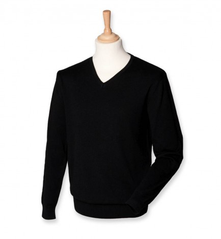 Henbury H720 Mens V Neck Sweater