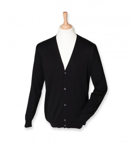 Henbury H722 V Neck Button Cardigan