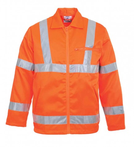 Portwest RT40 Hi-Vis Poly-cotton Jacket GO/RT