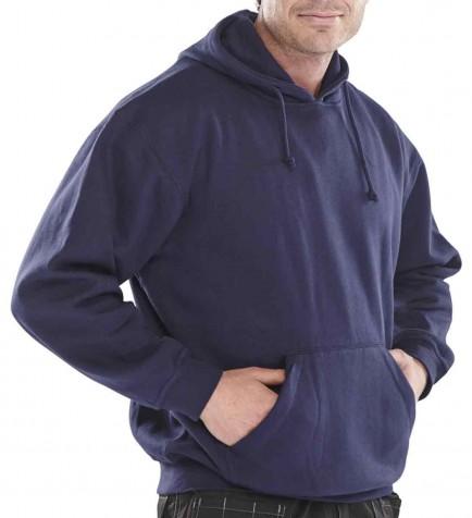 Click CLPCSH Leisurewear Polycotton Hooded Sweatshirt