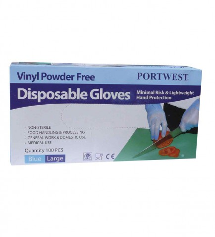 Portwest A905 Powder Free Vinyl Disposable Glove