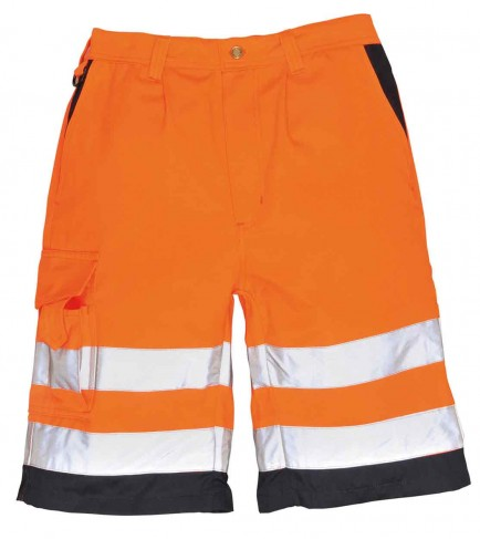 Portwest E043 Hi-Vis Poly-cotton Shorts