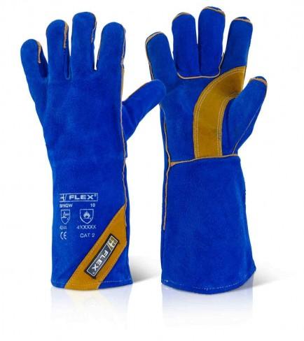 B-Flex BFHQW Cat2 Blue Gold Welder Glove
