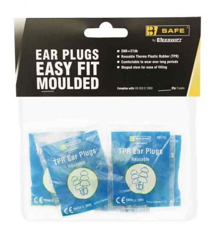 B-Safe Prepack BS002 Tpr Easy Fit Ear Plugs Pk 5
