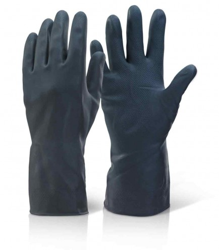 Click HHBHW Household Heavyweight Rubber Glove Black