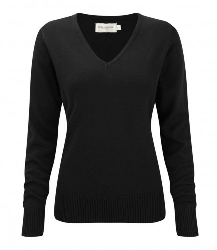 Russell Collection 710F Ladies V Neck Sweater
