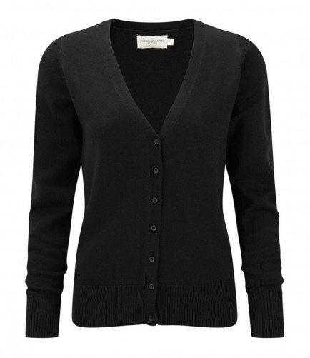 Russell Collection 715F Ladies V Neck Cardigan
