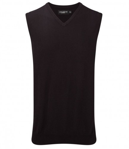 Russell Collection 716M Sleeveless V Neck Sweater