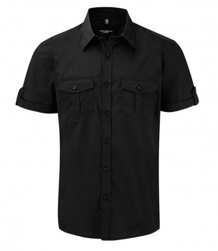 Russell Collection 919M Short Sleeve Twill Roll Shirt