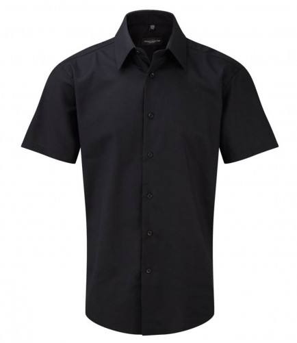 Russell Collection 923M Short Sleeve Tailored Oxford Shirt