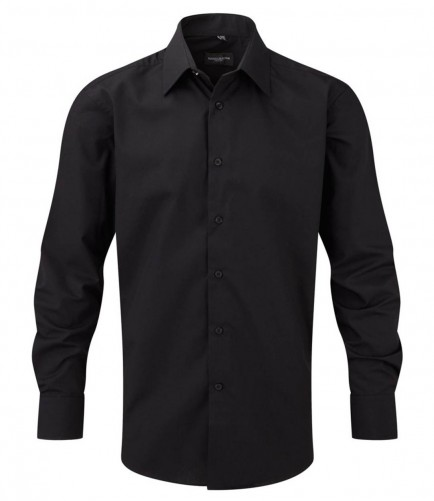 Russell Collection 924M Long Sleeve Tailored Poplin Shirt