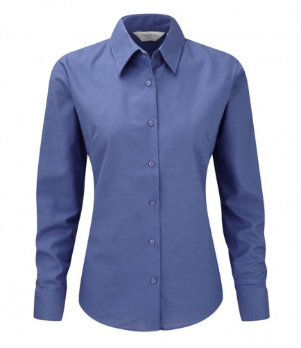 Russell Collection 932F Ladies Oxford Long Sleeve Shirt