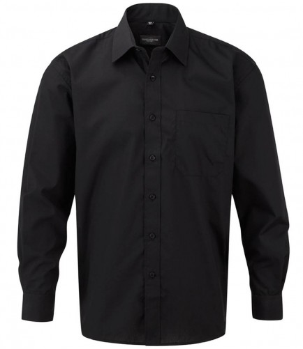 Russell Collection 934M Long Sleeve Poplin Shirt