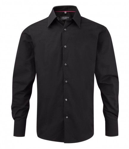 Russell Collection 954M Long Sleeve Tencel Fitted Shirt