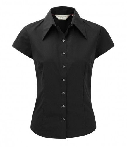 Russell Collection 955F Ladies Cap Sleeve Tencel Fitted Shirt