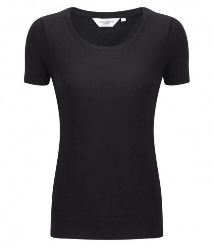 Russell Collection 991F Ladies Short Sleeve Stretch Top