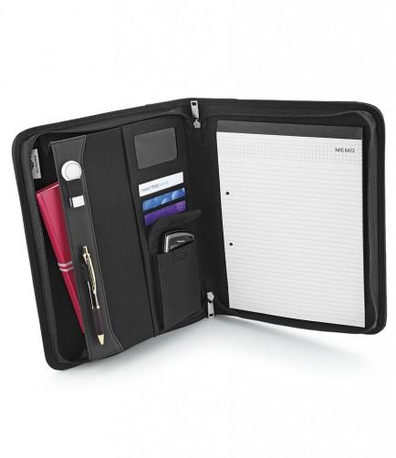 Quadra QD802 Burbank Zipper Portfolio