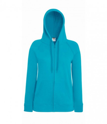 Fruit of the Loom SS182  LadyFit Lightweight Zip Hoody Sweatshirt