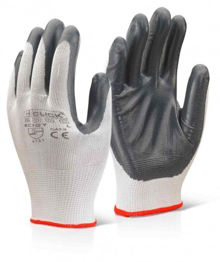 Click 2000 EC7GY Nitrile Palm Coated Polyester Glove Grey