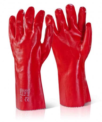"Click PVCR14 PVC Gauntlet Red 14"""