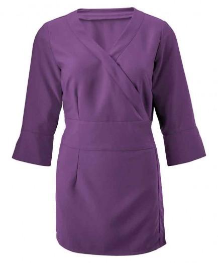 Alexandra Women's 3/4 Sleeve Wrap Tunic
