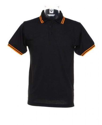Kustom Kit Contrast Tipped Pique Polo Shirt